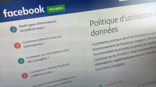 Facebook condamné pour défaut de transparence dans l'utilisation des données personnelles de ses utilisateurs européens