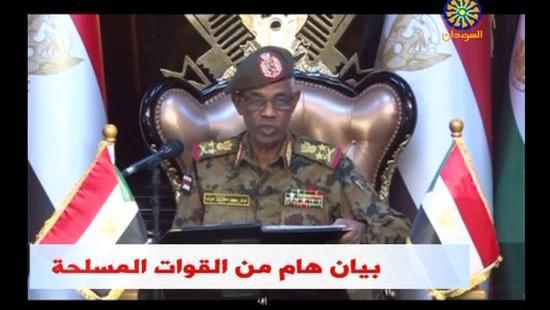 Awad Ahmed Benawf,inistre soudanais de la Défense, le 11 avril 2019.