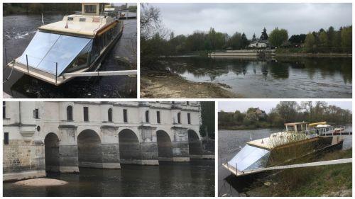 Indre-et-Loire : un bateau bloqué sur le Cher à cause de la sécheresse, son fioul menace les fondations du château de Chenonceau