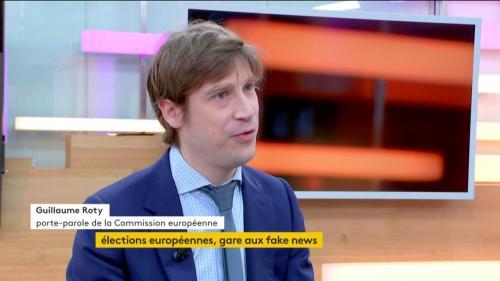 """VIDEO. Guillaume Roty : """"il y a une vraie inquiétude que des puissances étrangères essayent d'influencer le résultat des élections européennes"""""""