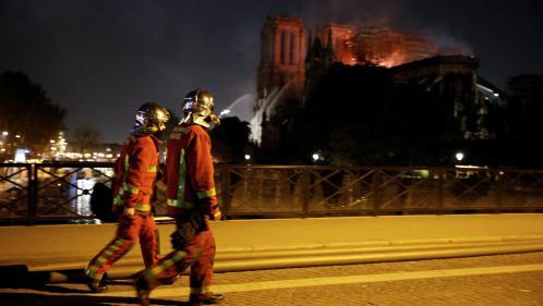 VIDEO. Incendie de Notre-Dame : les impressionnantes images de l'intervention des pompiers de Paris