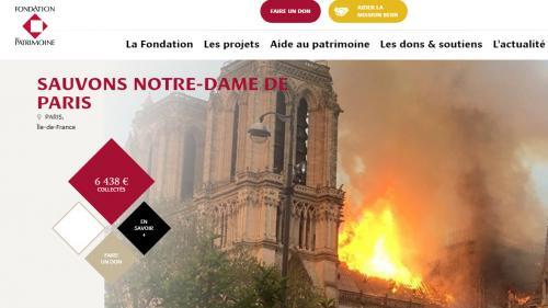 """Notre-Dame de Paris: une """"collecte nationale"""" lancée par la Fondation du patrimoine pour reconstruire l'édifice"""