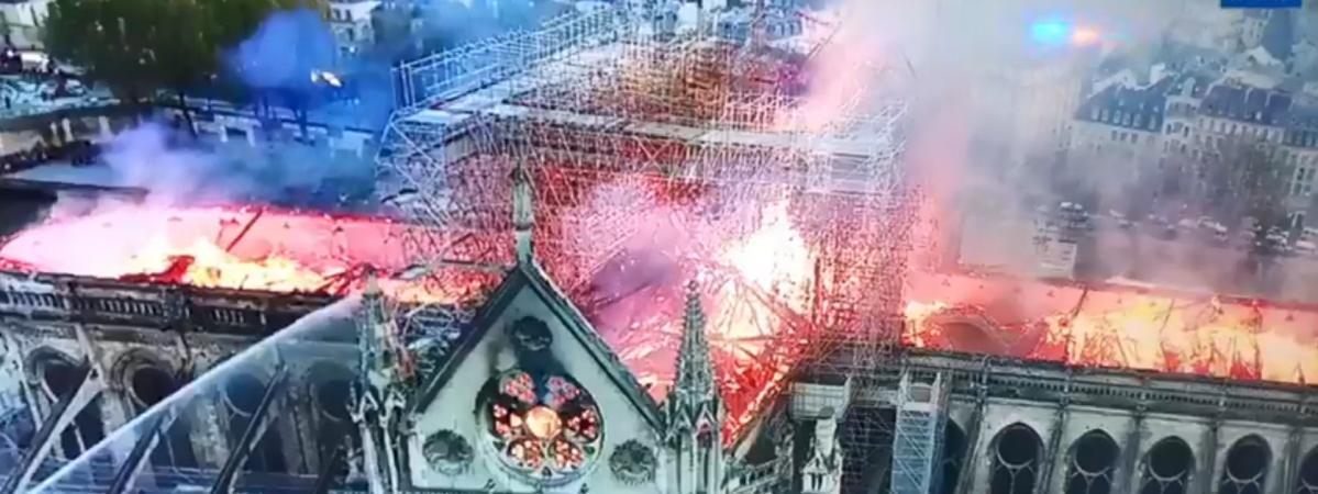 EN IMAGES. Incendie de Notre-Dame de Paris : les impressionnantes photos des flammes capturées par un drone