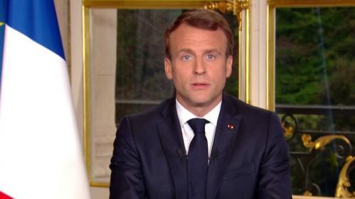 """VIDEO. """"Nous rebâtirons la cathédrale plus belle encore"""" : regardez l'allocution d'Emmanuel Macron en intégralité"""