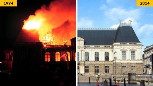 AVANT/APRES. Cathédrale de Reims, Fenice, Reichstag... Ces grands monuments détruits ont repris vie