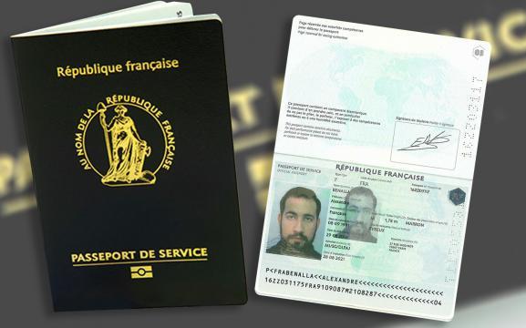 Passeport de service d'Alexandre Benalla, obtenu en août 2016.