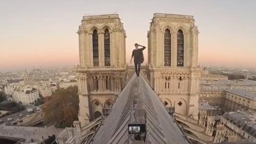 Notre-Dame de Paris : balade interdite, images époustouflantes