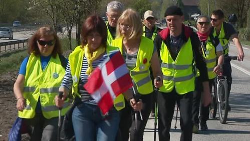 VIDEO. Des gilets jaunes marchent pour leur dignité d'Albertville à Strasbourg