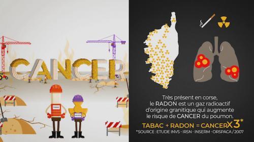 Radon et tabagisme font exploser le nombre de cancers du poumon en Corse