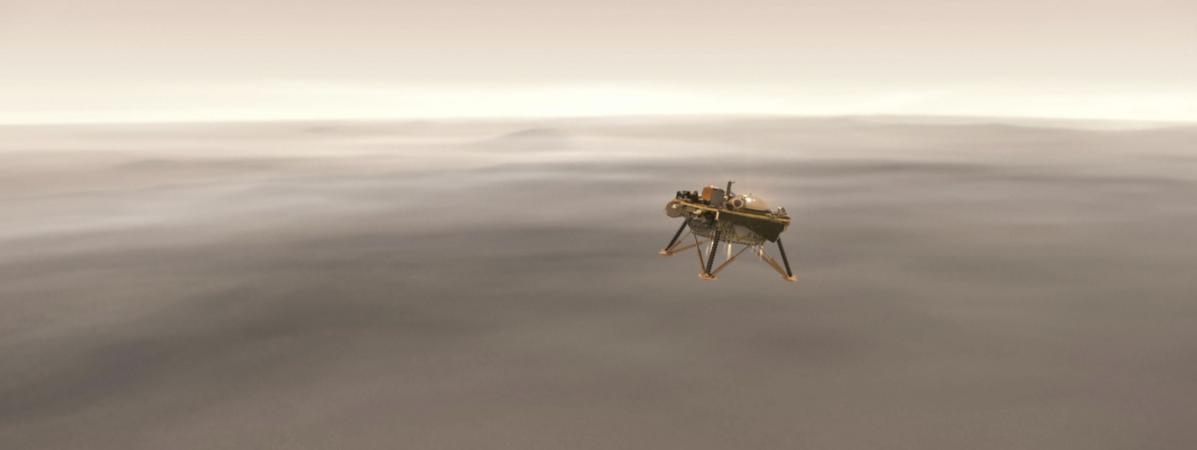 On a détecté un premier tremblement sur la planète Mars