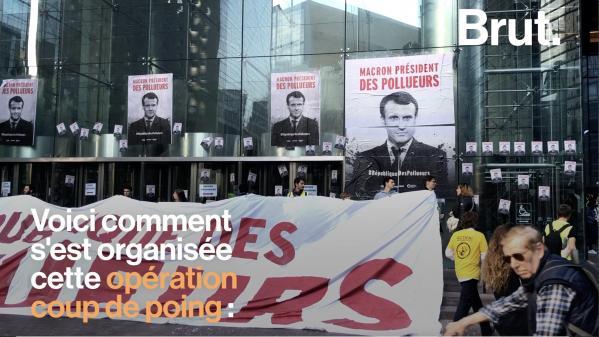 VIDEO. Climat : L'opération coup de poing de 2000 activistes à Paris