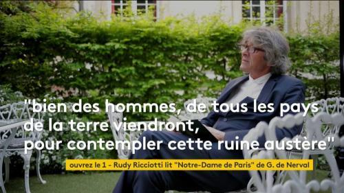 """VIDEO. L'architecte Rudy Ricciotti lit le poème """"Notre-Dame de Paris"""" de Gérard de Nerval"""