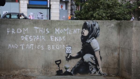 Banksy : une peinture murale de soutien à l'urgence écologique à Londres lui est attribuée