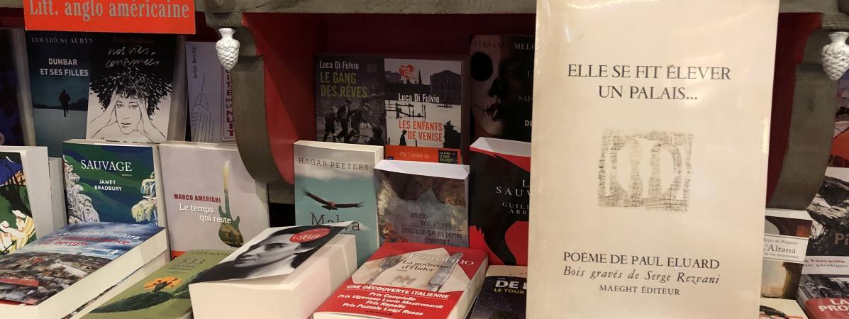 Réédition d\'un livre d\'artiste de Paul Eluard illustré par Serge Rezvani, offert pour la fête de la librairie indépendante 2019.