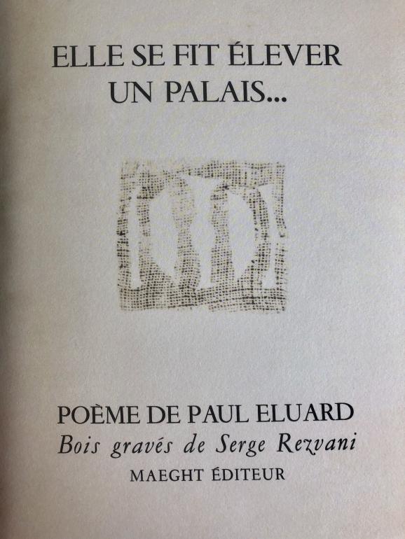 """Réédition du poème de Paul Eluard \""""Elle se fit élever un palais\"""" pour la 21e fête de la librairie indépendante."""