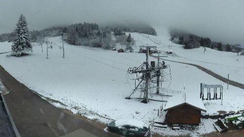 EN IMAGES. La neige fait un retour remarqué dans le Haut-Doubs et Haut-Jura