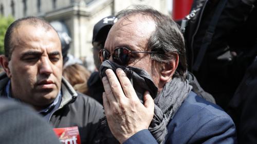 """1er-Mai : contraint de quitter brièvement la manifestation parisienne, Philippe Martinez accuse la police d'avoir """"chargé la CGT"""""""