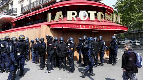1er-Mai : le restaurant La Rotonde, associé à la victoire d'Emmanuel Macron, a été placé sous haute protection policière