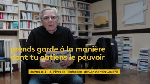"VIDEO. Bernard Pivot lit ""Théodote"" du poète grec Constantin Cavafis"