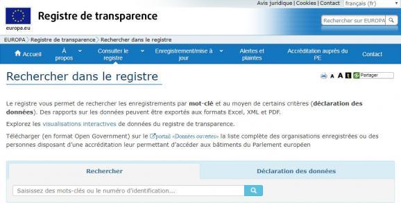 Le registre de la transparence, exploité par la Commission et le Parlement depuis 2011, regroupe plus de 11 000 groupes d\'intérêt.