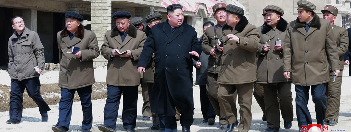 Kim Jong-un en visite dans le comté de Samjiyon, en Corée du Nord, le 4 avril 2019. (photo d\'illustration)