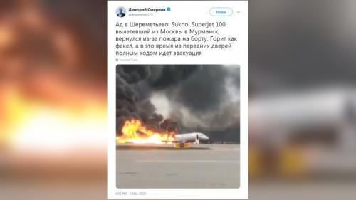 Russie : le bilan s'élève à 41 morts dans l'atterrissage d'urgence d'un avion ravagé par les flammes à Moscou