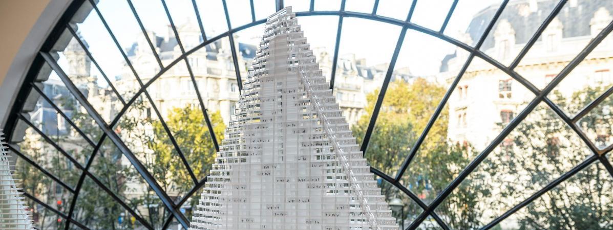 Le projet de la tour Triangle est présenté à Paris, le 30 octobre 2014.
