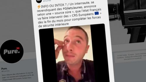"""Non, aucun """"CRS européen"""" n'intervient pour encadrer les manifestations des """"gilets jaunes"""""""