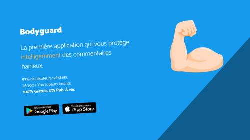 Les secrets de Bodyguard, l'application qui protège contre le cyberharcèlement (et qui a déjà séduit Bilal Hassani)   https://www.francetvinfo.fr/societe/harcelement/les-secrets-de-bodyguard-l-application-qui-protege-contre-le-cyberharcelement-et-qui-a-de
