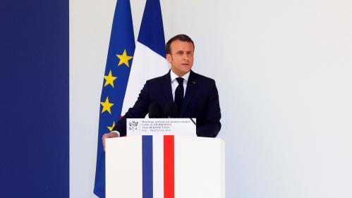 """DIRECT. Hommage aux Invalides: Emmanuel Macron salue la mémoire des deux soldats """"morts en héros pour la France"""""""
