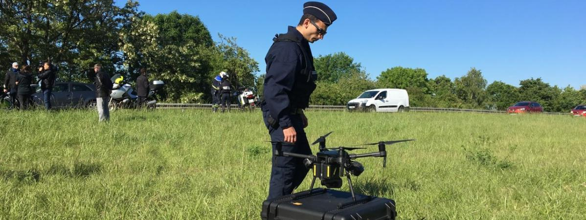 Premier contrôle routier par drone.