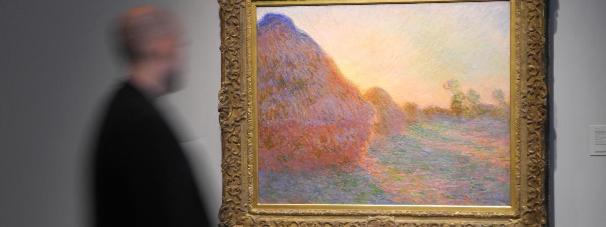 """Une toile de la série des \""""Meules\"""" du peintre français Claude Monet a été acquise, le 14 mai 2019,à New York pour 110,7 millions de dollars."""