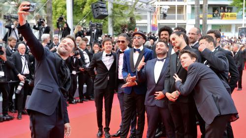 """EN IMAGES. Cannes 2019 : tapis rouge pour """"Les Misérables"""" de Ladj Ly sous l'œil de Jamel Debbouze et Amber Heard"""