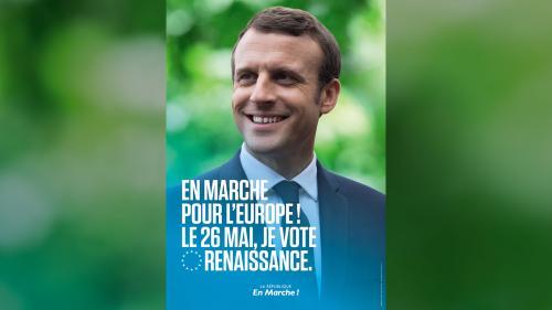 Elections européennes : Emmanuel Macron a-t-il le droit de figurer sur une affiche de campagne ?