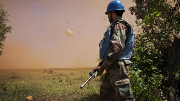 Un ministre congolais atterrit sous escorte des Nations unies pour entamer des pourparlers avec des groupes rebelles (photo prise en 2014).