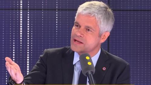 """VIDEO. Européennes : """"Un électeur de droite ne peut pas se retrouver"""" dans la liste LREM, affirme Laurent Wauquiez"""