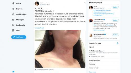 """""""Je suis désespérée par la justice"""" : après la libération de son ex qui a tenté de la tuer, Laura interpelle les autorités"""
