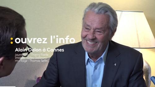 """VIDEO. On a rencontré Alain Delon à Cannes : """"On peut discuter de ce qu'on veut à propos de moi, mais pas ma carrière"""""""