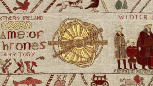 """Calvados : une étonnante tapisserie """"Game of Thrones"""" brodée en Irlande du Nord sera exposée à Bayeux à l'automne"""