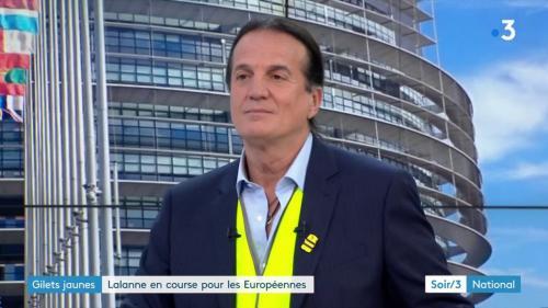 """Européennes : """"Ceux qui veulent voter contre Macron ne sont pas obligés de voter Le Pen"""", affirme Lalanne (Alliance jaune)"""