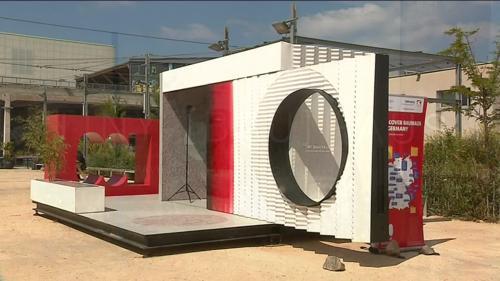 Tout l'esprit du Bauhaus dans une maison de 8m2 imprimée en 3D