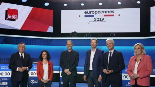 """DIRECT. Européennes : """"Je sais que vous êtes stressé..."""" Première passe d'armes entre Laurent Wauquiez et Marine Le Pen lors de """"L'Emission politique"""""""