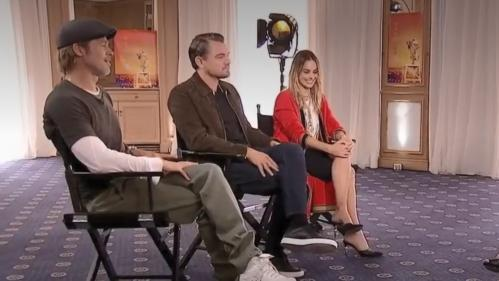 """VIDEO. """"Quentin Tarantino est l'une des voix les plus uniques de notre industrie"""", estiment Leonardo DiCaprio et Brad Pitt"""