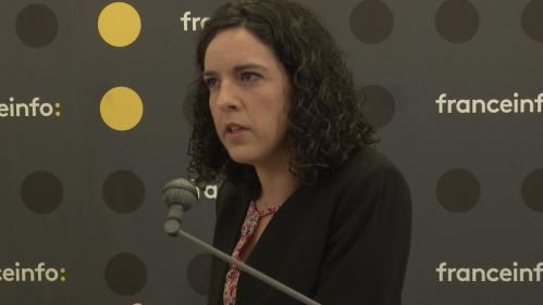 """VIDEO. Elections européennes : """"L'objectif de La France insoumise, c'est de dépasser Les Républicains"""", définit Manon Aubry"""