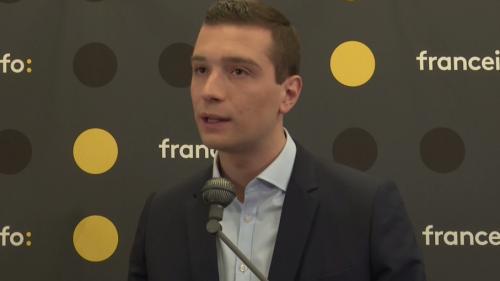 """VIDEO. """"Je veux faire entrer les souverainistes et tous les partis du bon sens au Parlement européen"""", assure Jordan Bardella"""