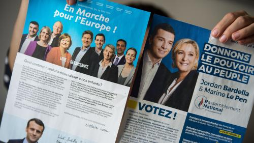 Européennes : le RN en tête des intentions de vote devant LREM dans notre dernier sondage avant le scrutin