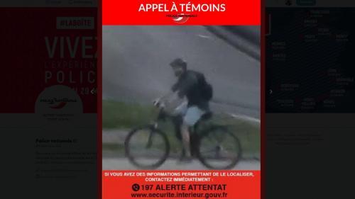 Explosion à Lyon : la police diffuse de nouvelles photos du suspect à vélo