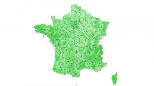 CARTE. Résultats des élections européennes 2019 : la France du vote Europe Ecologie-Les Verts