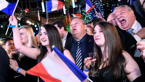 """""""On espère que ça va amorcer d'autres victoires"""" : la joie des militants du Rassemblement national après les élections européennes"""