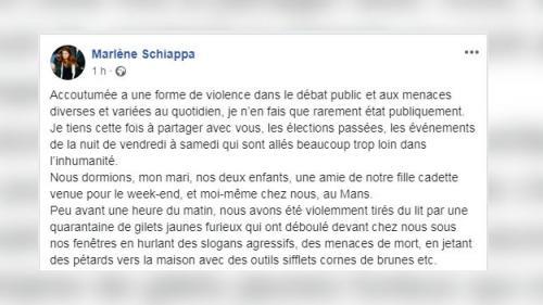 """""""Schiappa, on est venu te crever !"""", des """"gilets jaunes furieux"""" devant le domicile de Marlène Schiappa"""